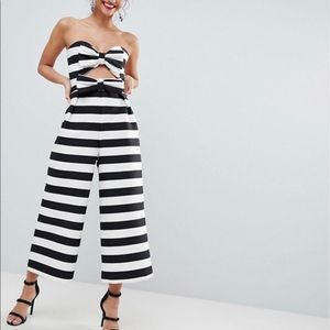 NWT ASOS bow jumpsuit